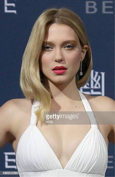 Actress Lea Seydoux attends 'Spectre' premiere at The Place on November 12 2015 in Beijing China