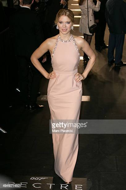 Actress Lea Seydoux attends the '007 Spectre' Paris Premiere at Le Grand Rex on October 29 2015 in Paris France