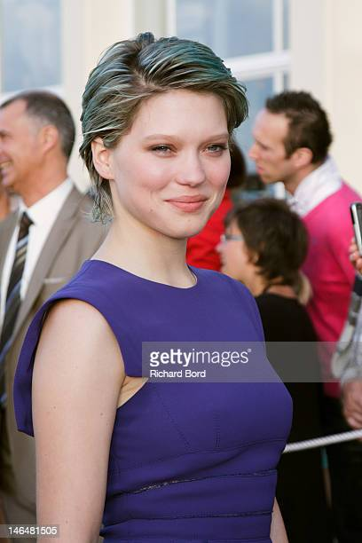 Actress Lea Seydoux attends the 26th Cabourg Romantic Film Festival on June 16 2012 in Cabourg France
