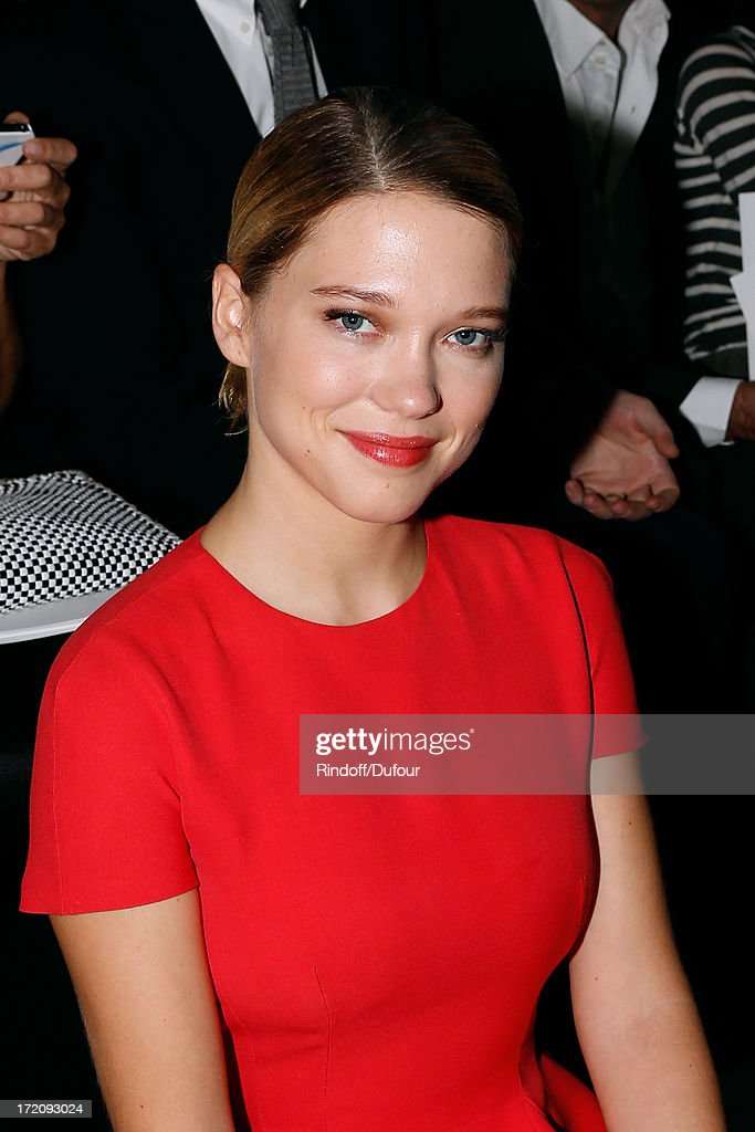 Actress Lea Seydoux attends the Christian Dior show as part of Paris Fashion Week Haute-Couture Fall/Winter 2013-2014 on July 1, 2013 in Paris, France.