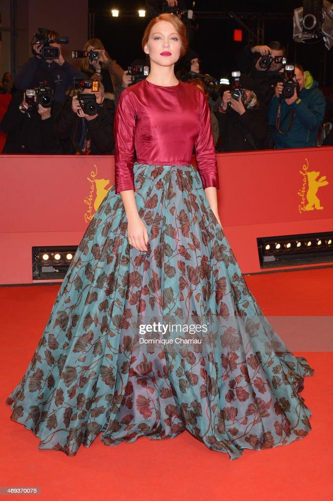 Actress Lea Seydoux attends the 'La belle et la bete' (Die Schoene und das Biest) premiere during 64th Berlinale International Film Festival at Berlinale Palast on February 14, 2014 in Berlin, Germany.