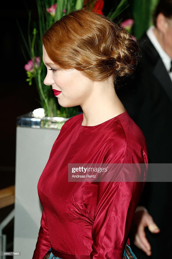 Actress Lea Seydoux attends the 'La belle et la bete' (Die Schoene und das Biest) premiere during 64th Berlinale International Film Festival at Berlinale Palast on February 14, 2014 in Berlin, Germany.