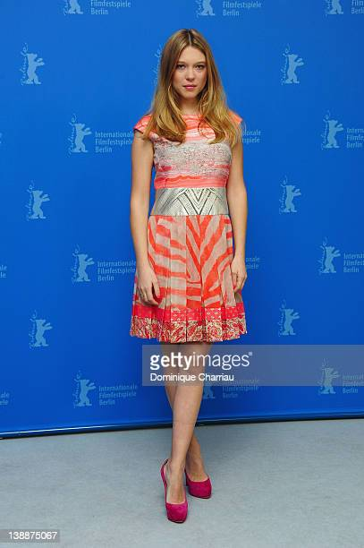 Actress Lea Seydoux attends the 'L'Enfant d'en haut' Photocall during day five of the 62nd Berlin International Film Festival at the Grand Hyatt on...