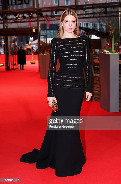 Actress Lea Seydoux attends the 'L'Enfant d'en Haut' Premiere during day five of the 62nd Berlin International Film Festival at the Berlinale Palast...