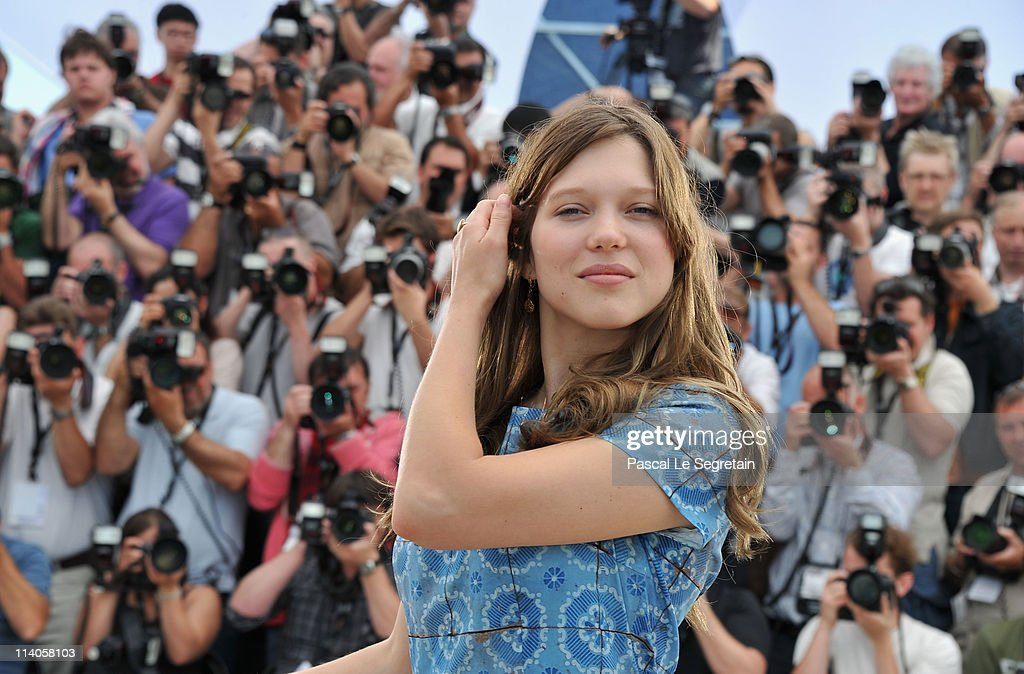 Actress Lea Seydoux attends the 'Midnight In Paris' photocall at the Palais des Festivals during the 64th Cannes Film Festival on May 11, 2011 in Cannes, France.