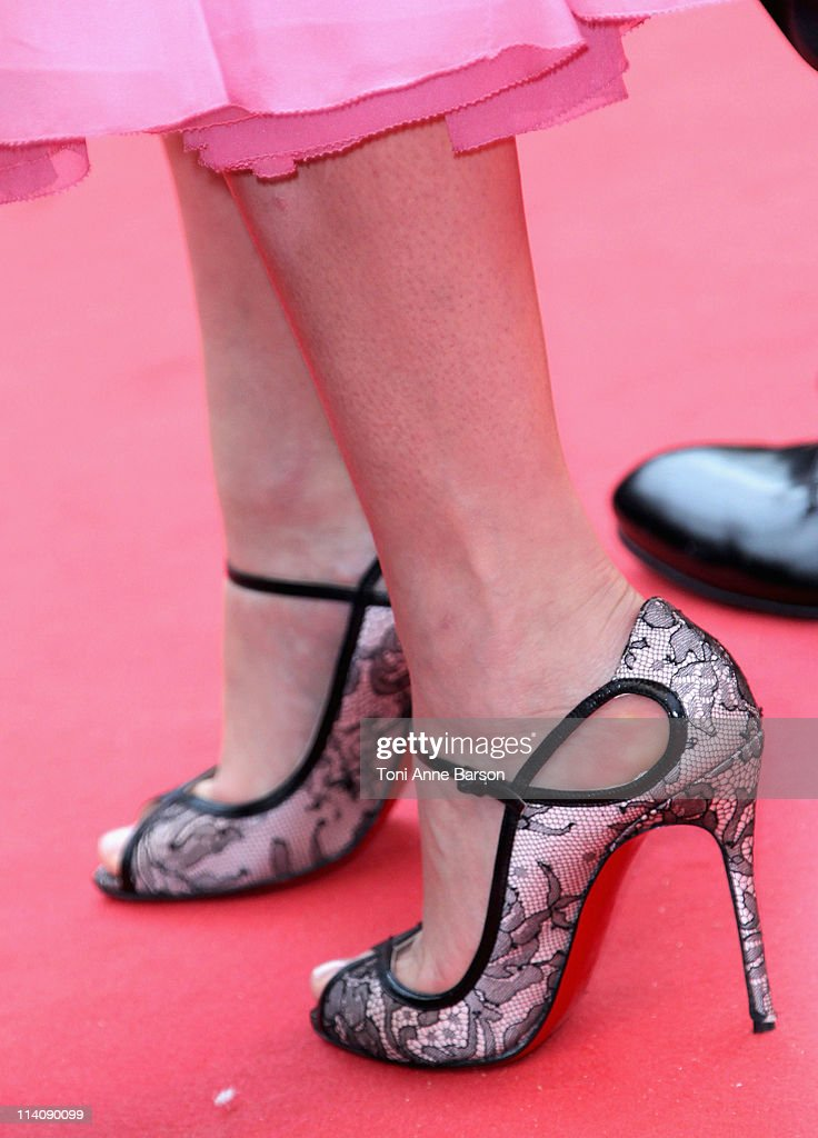 Actress Lea Seydoux (shoe detail) attends the Opening Ceremony and 'Midnight In Paris' Premiere at the Palais des Festivals during the 64th Cannes Film Festival on May 11, 2011 in Cannes, France.