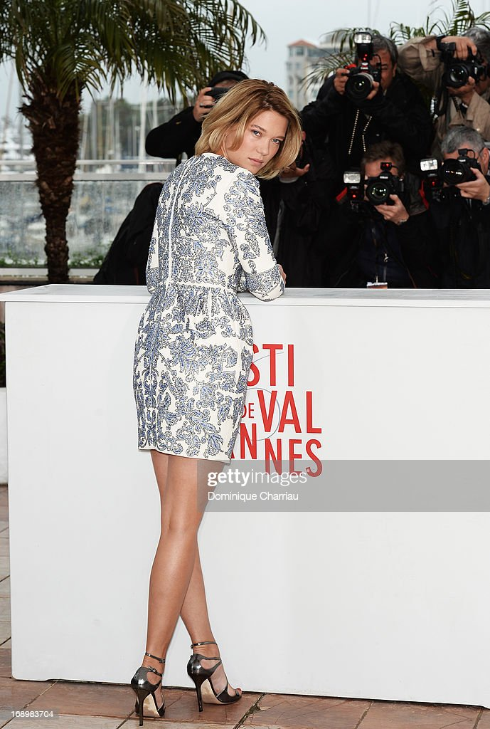 Actress Lea Seydoux attends the photocall for 'Grand Central' during the 66th Annual Cannes Film Festival at Palais des Festivals on May 18 2013 in...