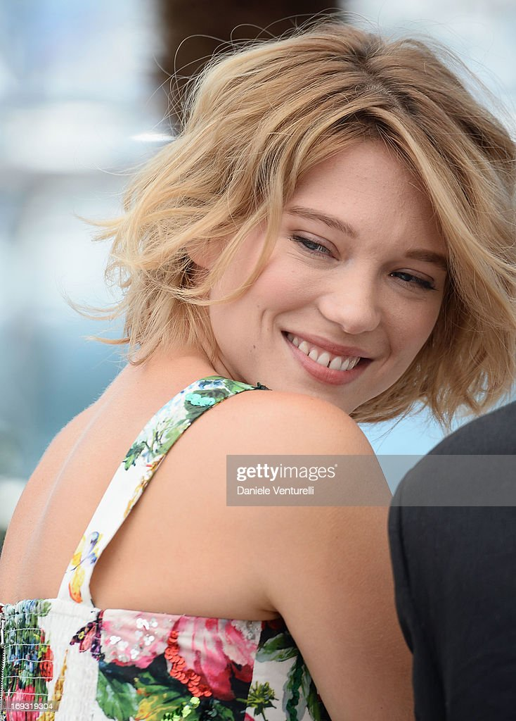 Actress Lea Seydoux attends the photocall for 'La Vie D'Adele' during the 66th Annual Cannes Film Festival at The Palais des Festivals on May 23, 2013 in Cannes, France.