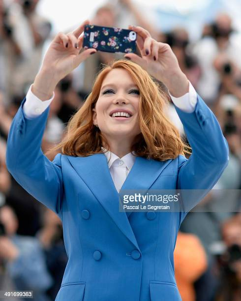 Actress Lea Seydoux attends the 'Saint Laurent' photocall during the 67th Annual Cannes Film Festival on May 17 2014 in Cannes France
