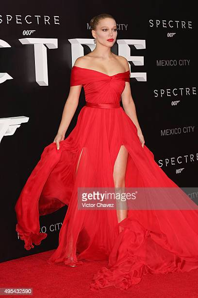 Actress Lea Seydoux attends the 'Spectre' Mexico City premiere at Auditorio Nacional on November 2 2015 in Mexico City Mexico