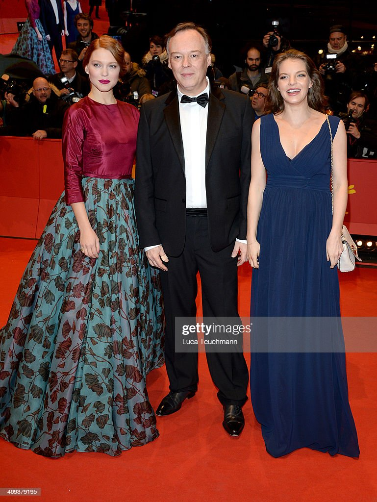 Actress Lea Seydoux, director Christophe Gans and actress <a gi-track='captionPersonalityLinkClicked' href=/galleries/search?phrase=Yvonne+Catterfeld&family=editorial&specificpeople=228473 ng-click='$event.stopPropagation()'>Yvonne Catterfeld</a> attend the 'La belle et la bete' (Die Schoene und das Biest) premiere during 64th Berlinale International Film Festival at Berlinale Palast on February 14, 2014 in Berlin, Germany.