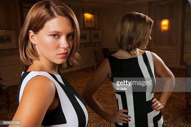 Actress Lea Seydoux is photographed for Los Angeles Times on September 4 2013 in Beverly Hills California PUBLISHED IMAGE CREDIT MUST READ Al...