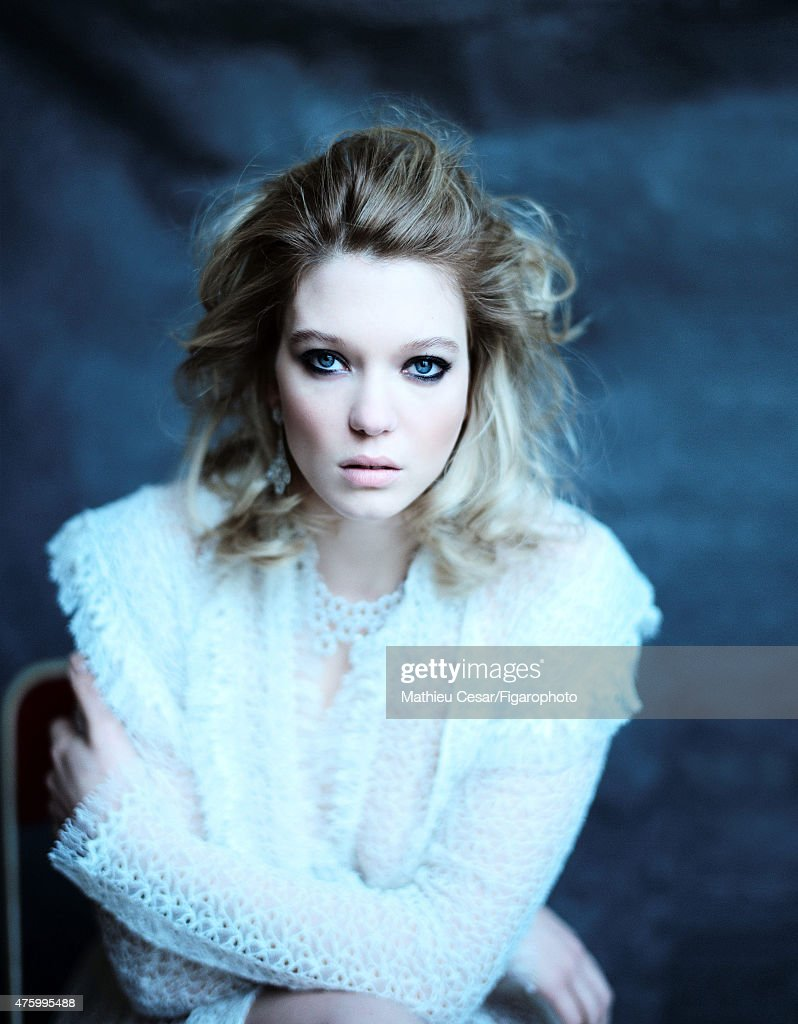 Actress <a gi-track='captionPersonalityLinkClicked' href=/galleries/search?phrase=Lea+Seydoux&family=editorial&specificpeople=4398974 ng-click='$event.stopPropagation()'>Lea Seydoux</a> is photographed for Madame Figaro on March 25, 2015 in Paris, France. Dress (Azzedine Alaïa), earrings and necklace (Chopard). Make-up by La Roche-Posay. COVER IMAGE.