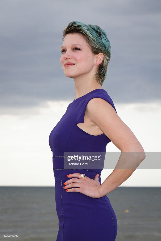 Actress Lea Seydoux poses as she attends the 26th Cabourg Romantic Film Festival on June 16, 2012 in Cabourg, France.