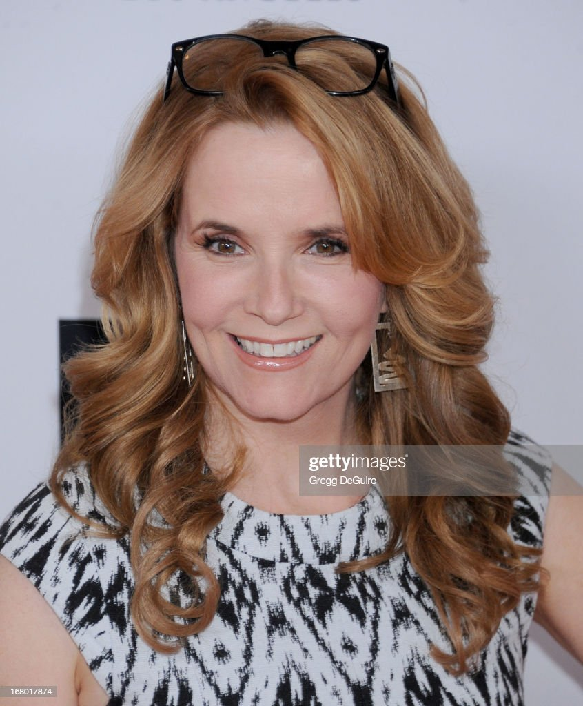 Actress Lea Thompson arrives at the 20th Annual Race To Erase MS Gala 'Love To Erase MS' at the Hyatt Regency Century Plaza on May 3, 2013 in Century City, California.