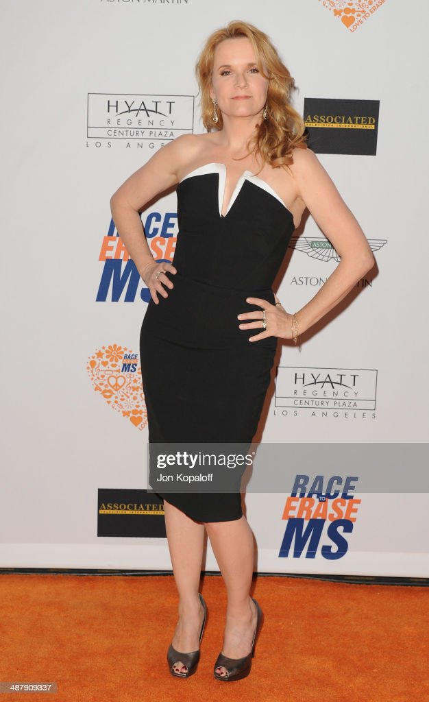 Actress Lea Thompson arrives at the 21st Annual Race To Erase MS Gala at the Hyatt Regency Century Plaza on May 2, 2014 in Century City, California.