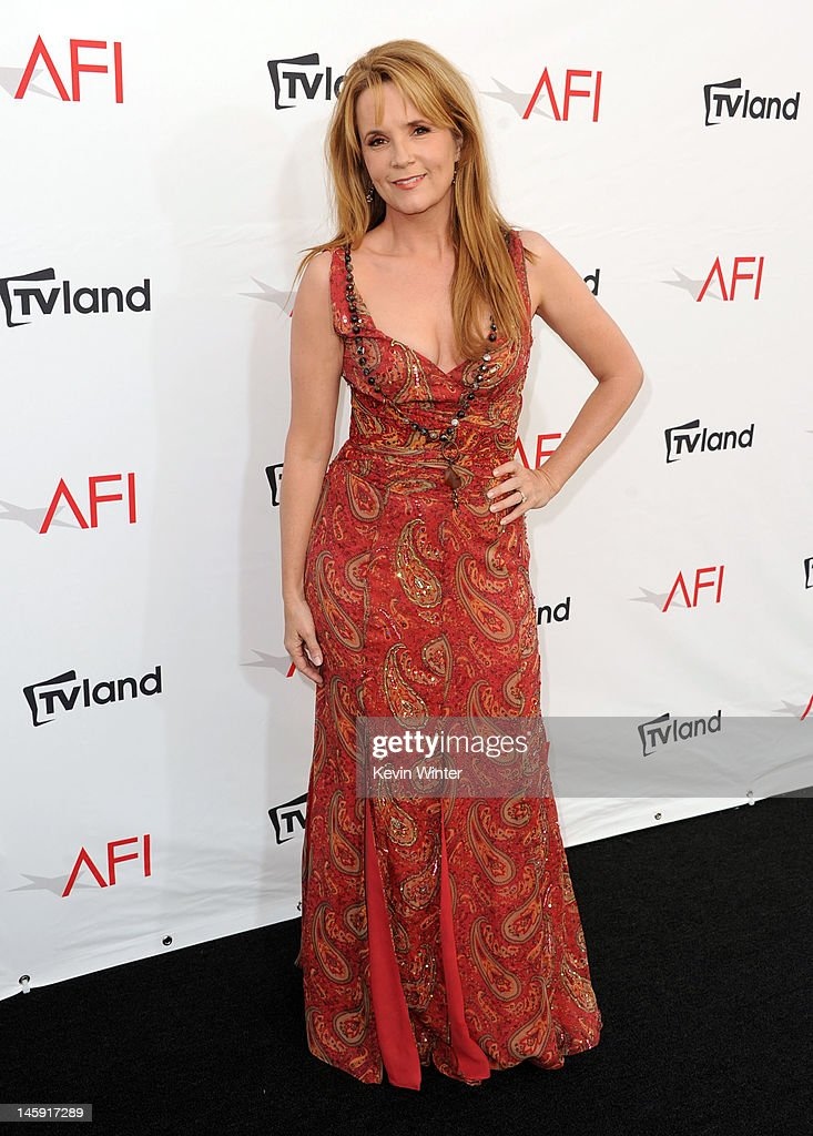 Actress <a gi-track='captionPersonalityLinkClicked' href=/galleries/search?phrase=Lea+Thompson&family=editorial&specificpeople=210564 ng-click='$event.stopPropagation()'>Lea Thompson</a> arrives at the 40th AFI Life Achievement Award honoring Shirley MacLaine held at Sony Pictures Studios on June 7, 2012 in Culver City, California. The AFI Life Achievement Award tribute to Shirley MacLaine will premiere on TV Land on Saturday, June 24 at 9PM