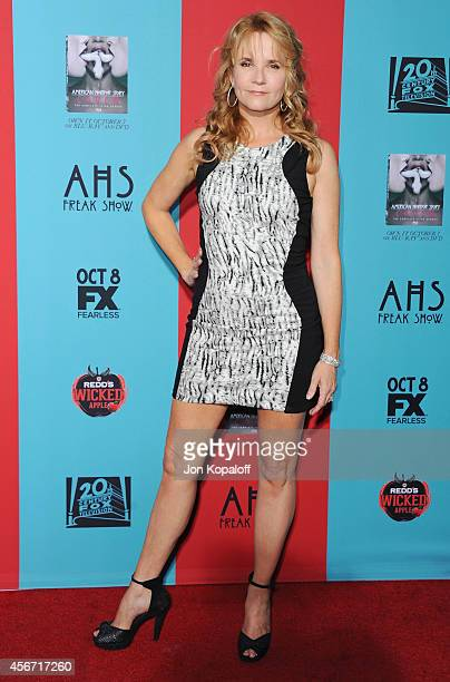 Actress Lea Thompson arrives at the Los Angeles Premiere 'American Horror Story Freak Show' at TCL Chinese Theatre IMAX on October 5 2014 in...