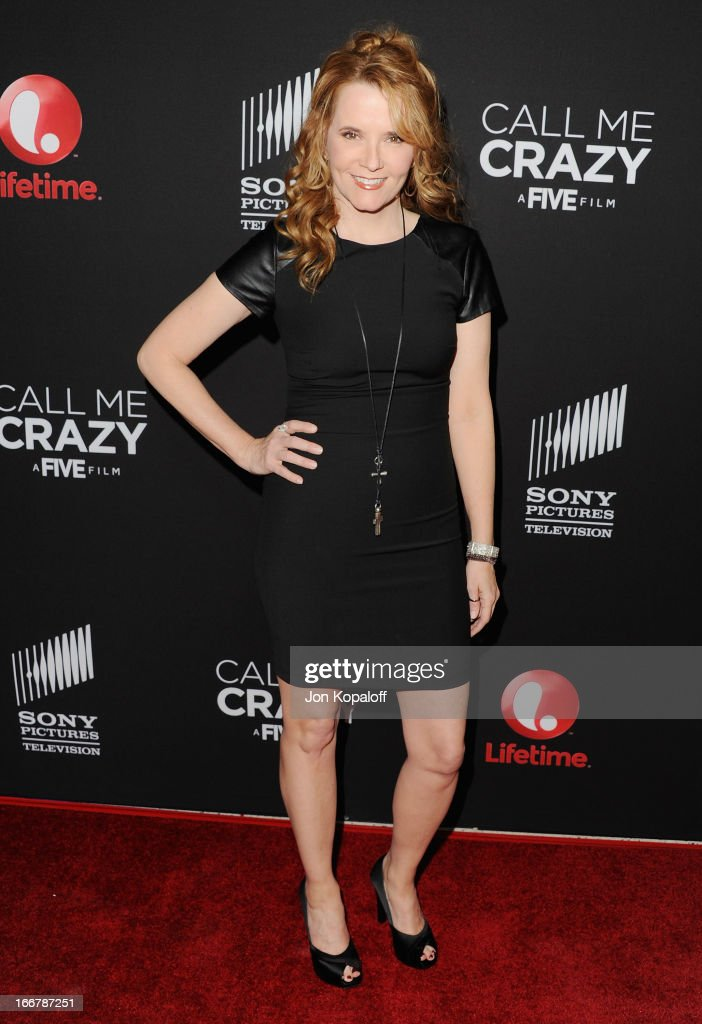 Actress Lea Thompson arrives at the Los Angeles Premiere 'Call Me Crazy: A Five Film' at Pacific Design Center on April 16, 2013 in West Hollywood, California.