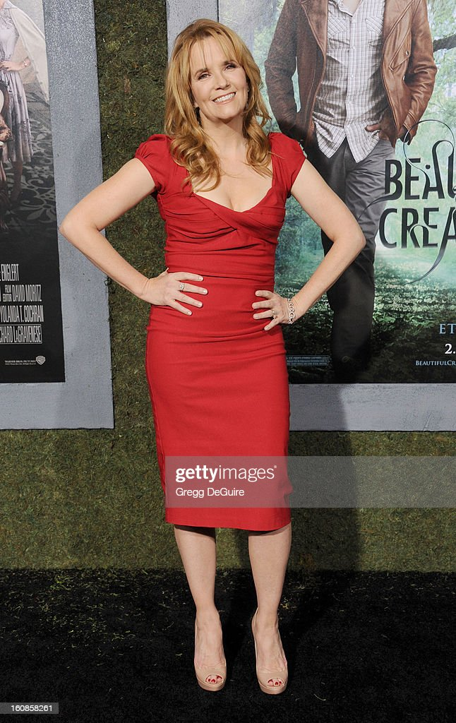 Actress Lea Thompson arrives at the Los Angeles premiere of 'Beautiful Creatures' at TCL Chinese Theatre on February 6, 2013 in Hollywood, California.