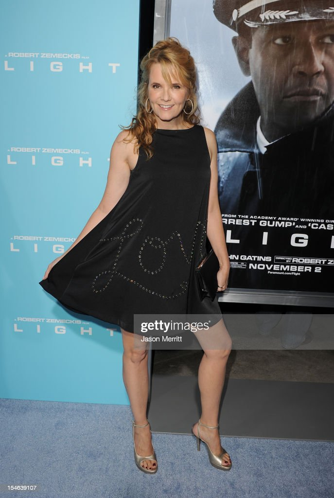 Actress Lea Thompson arrives at the premiere of Paramount Pictures' 'Flight' held at the ArcLight Cinemas on October 23, 2012 in Hollywood, California.