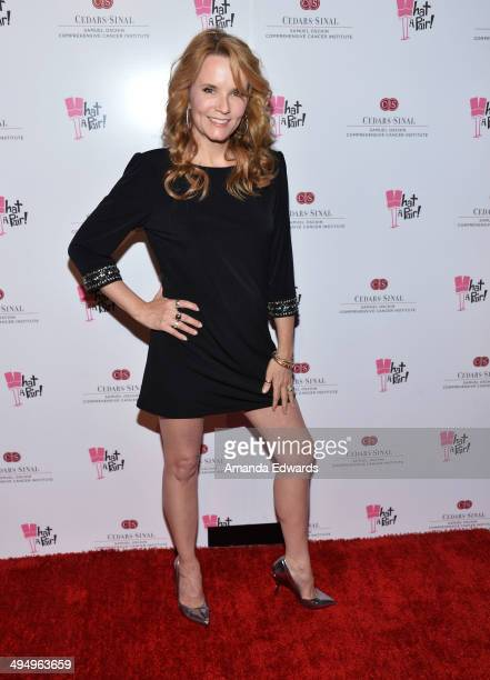 Actress Lea Thompson arrives at the What A Pair Benefit Concert to support breast cancer research and education programs at the CedarsSinai Samuel...