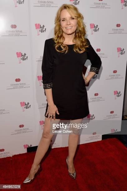 Actress Lea Thompson attended the What A Pair Benefit Concert to support breast cancer research education programs at the CedarsSinai Samuel Oschin...