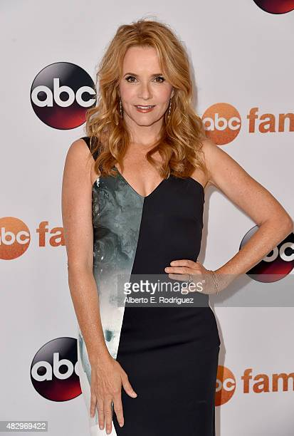 Actress Lea Thompson attends Disney ABC Television Group's 2015 TCA Summer Press Tour at the Beverly Hilton Hotel on August 4 2015 in Beverly Hills...