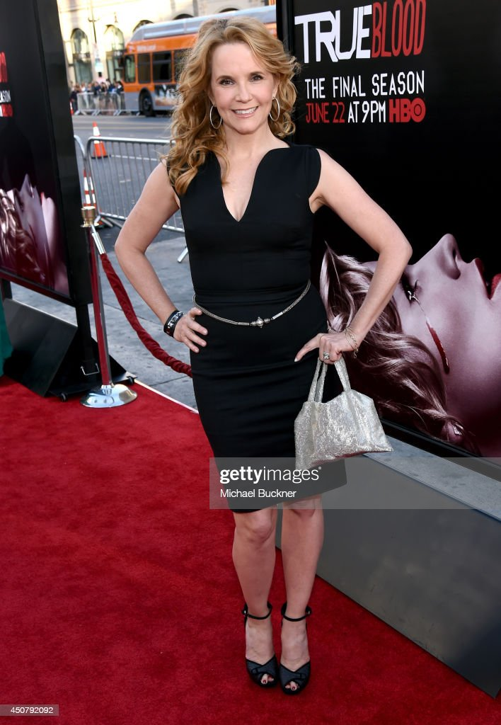 Actress <a gi-track='captionPersonalityLinkClicked' href=/galleries/search?phrase=Lea+Thompson&family=editorial&specificpeople=210564 ng-click='$event.stopPropagation()'>Lea Thompson</a> attends Premiere Of HBO's 'True Blood' Season 7 And Final Season at TCL Chinese Theatre on June 17, 2014 in Hollywood, California.