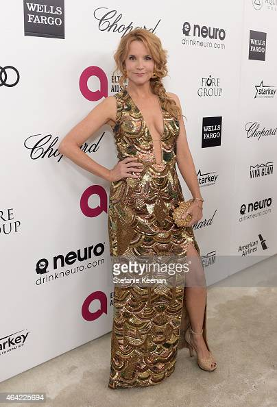 Actress Lea Thompson attends the 23rd Annual Elton John AIDS Foundation Academy Awards viewing party with Chopard on February 22 2015 in Los Angeles...