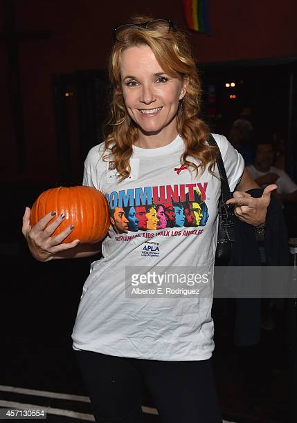 Actress Lea Thompson attends the 30th Annual AIDS Walk Los Angeles on October 12 2014 in West Hollywood California