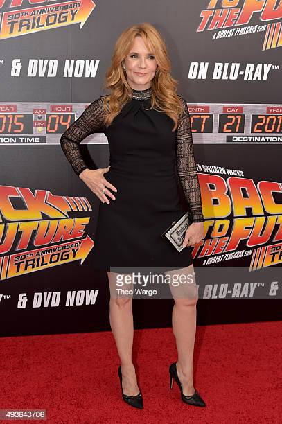 Actress Lea Thompson attends the 'Back To The Future' New York special anniversary screening at AMC Loews Lincoln Square on October 21 2015 in New...