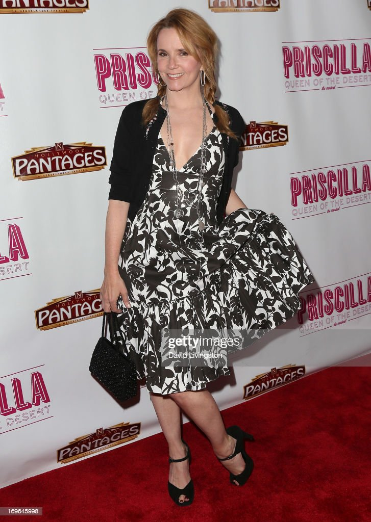 Actress Lea Thompson attends the Los Angeles theatre premiere of 'Priscilla Queen of the Desert' at the Pantages Theatre on May 29, 2013 in Hollywood, California.