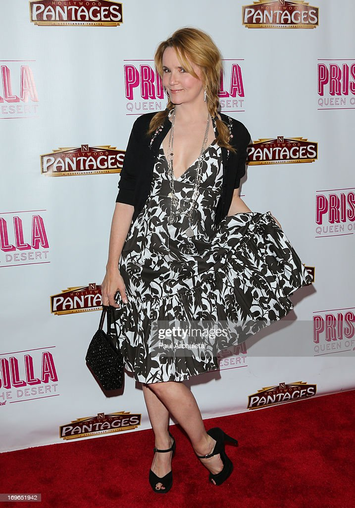 Actress Lea Thompson attends the 'Priscilla Queen Of The Desert' theatre premiere at the Pantages Theatre on May 29, 2013 in Hollywood, California.