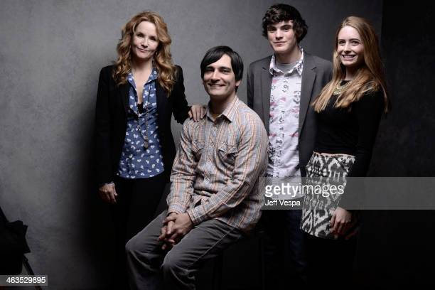 Actress Lea Thompson filmmaker Michael Tully actor Marcello Conte and actress Emmi Shockley pose for a portrait during the 2014 Sundance Film...