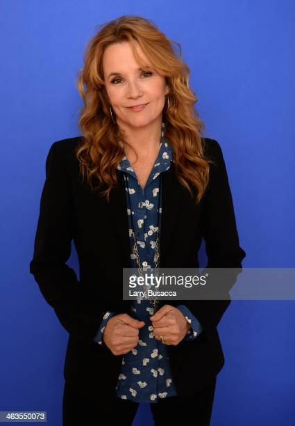 Actress Lea Thompson poses for a portrait during the 2014 Sundance Film Festival at the WireImage Portrait Studio at the Village At The Lift...