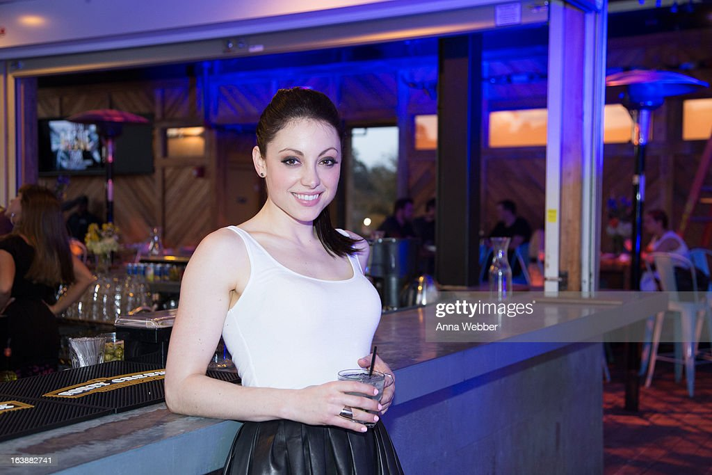 Actress Leah Gibson attends DIRECTV And AUDIENCE Network's Road To Rogue Party on March 16, 2013 in Austin, Texas.