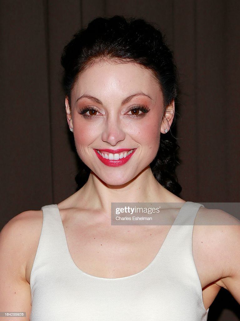 Actress Leah Gibson attends the 'Rogue' premiere at the Tribeca Grand Hotel - Screening Room on March 21, 2013 in New York City.