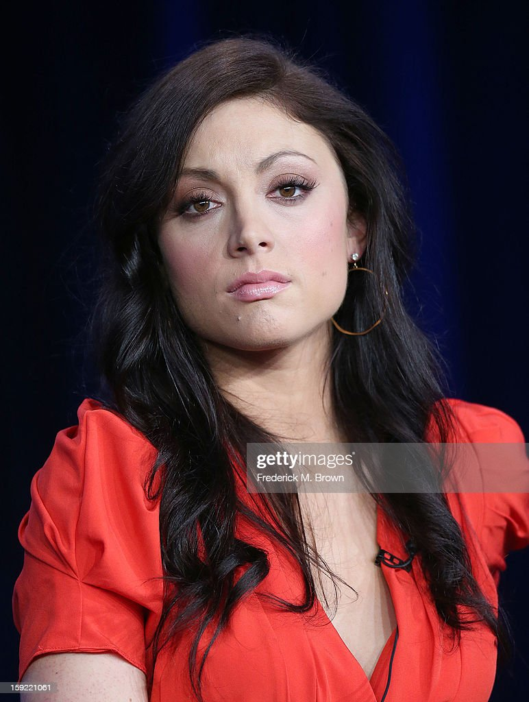 Actress Leah Gibson of the television show 'Rogue' speaks during DIRECTV's Audience Network portion of the 2013 Winter Television Critics Association Press Tour at the Langham Hotel and Spa on January 9, 2013 in Pasadena, California.