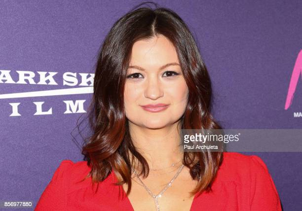 Actress Leah McKendrick attends the premiere of Dark Sky Films' 'MFA' at The London West Hollywood on October 2 2017 in West Hollywood California