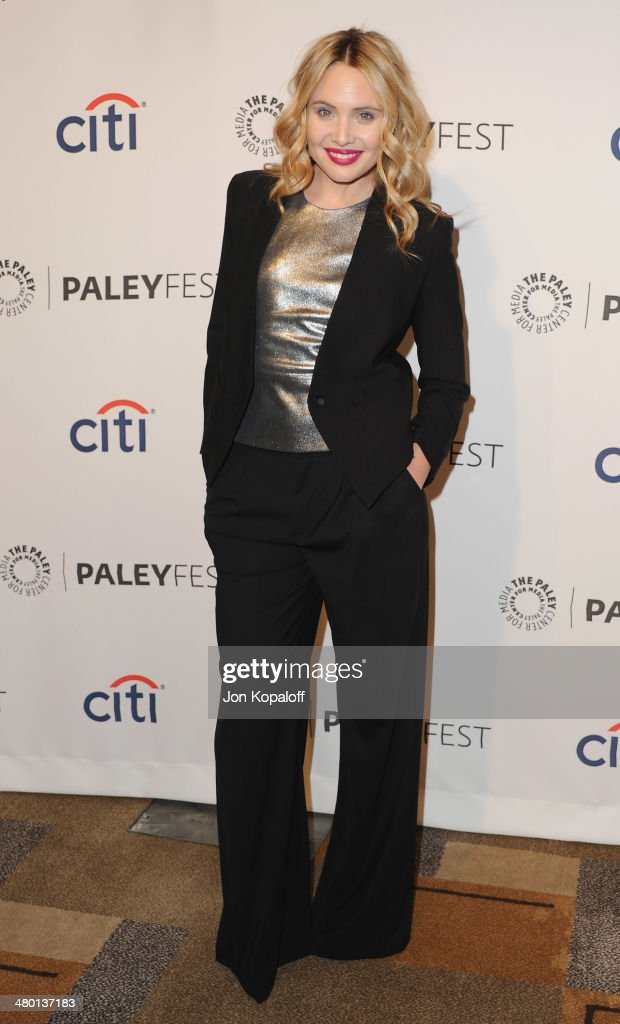 Actress <a gi-track='captionPersonalityLinkClicked' href=/galleries/search?phrase=Leah+Pipes&family=editorial&specificpeople=2969143 ng-click='$event.stopPropagation()'>Leah Pipes</a> arrives at the 2014 PaleyFest - 'The Vampire Diaries' & 'The Originals' on March 22, 2014 in Hollywood, California.