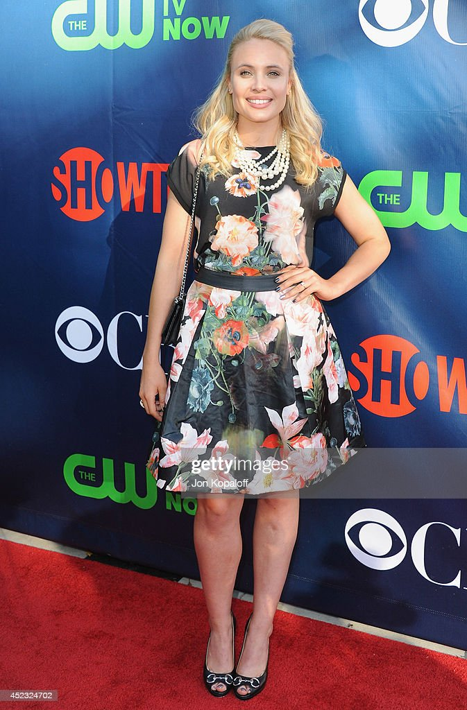 Actress <a gi-track='captionPersonalityLinkClicked' href=/galleries/search?phrase=Leah+Pipes&family=editorial&specificpeople=2969143 ng-click='$event.stopPropagation()'>Leah Pipes</a> arrives at the CBS, The CW, Showtime & CBS Television Distribution 2014 Television Critics Association Summer Press Tour at Pacific Design Center on July 17, 2014 in West Hollywood, California.