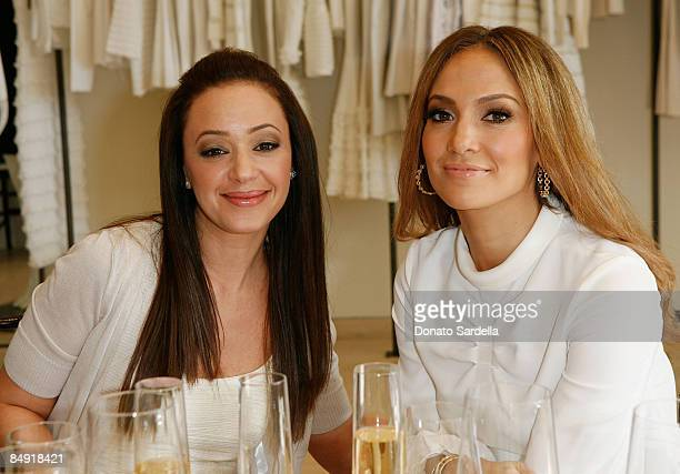 Actress Leah Remini and singer Jennifer Lopez attends the Barneys New York and Jennifer Lopez Celebrate Andrea Lieberman event February 18 2009 in...