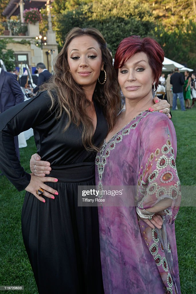 Actress Leah Remini and TV personality Sharon Osbourne attend the 13th Annual Design Care Benefiting The HollyRod Foundation - Inside on July 23, 2011 in Beverly Hills, California.