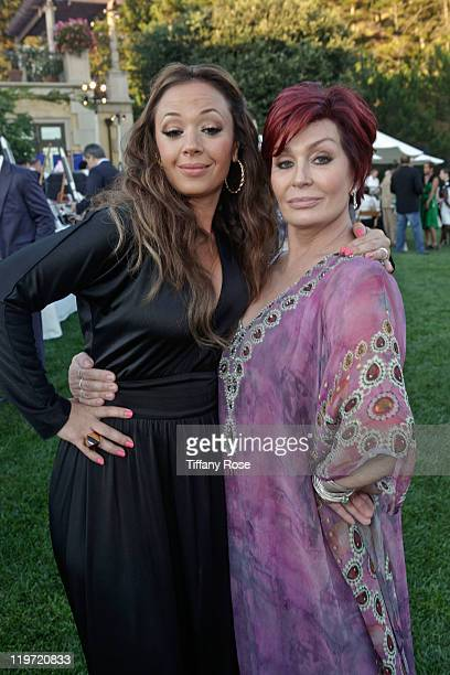 Actress Leah Remini and TV personality Sharon Osbourne attend the 13th Annual Design Care Benefiting The HollyRod Foundation Inside on July 23 2011...