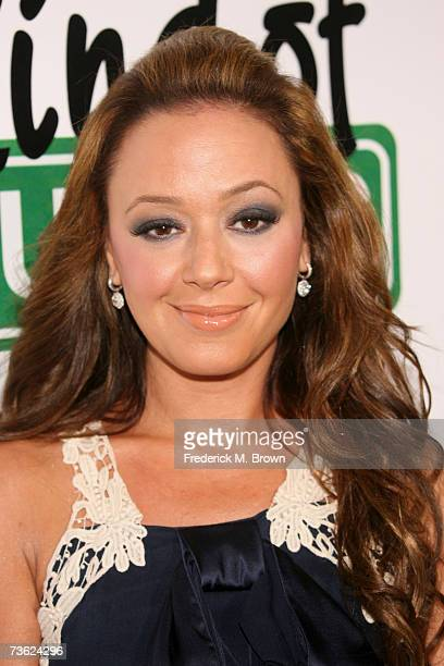 Actress Leah Remini attends 'The King of Queens' final season wrap party at Boulevard 3 on March 17 2007 in Hollywood California