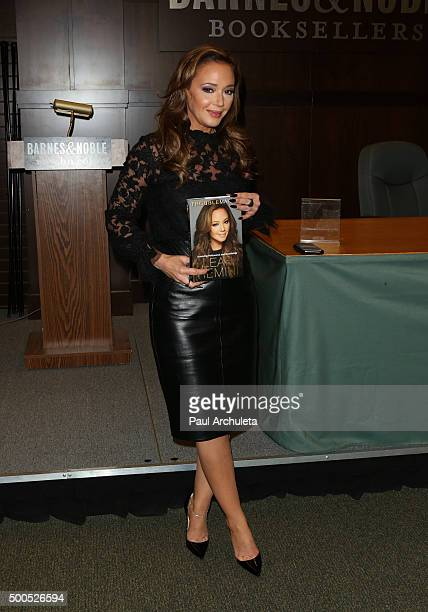 Actress Leah Remini signs copies of her new book 'Troublemaker Surviving Hollywood and Scientology' at Barnes Noble at The Grove on December 8 2015...