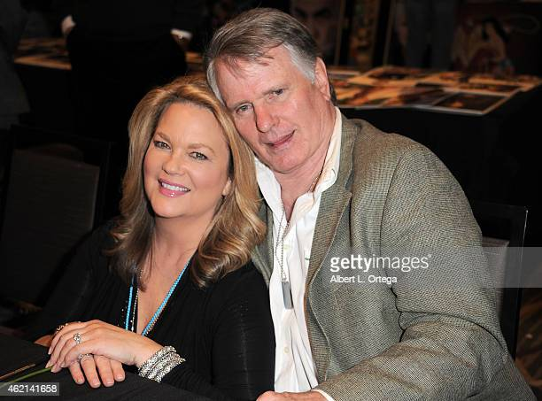 Actress Leann Hunley and actor Gordon Thomson at The Hollywood Show held at The Westin Hotel LAX on January 24 2015 in Los Angeles California