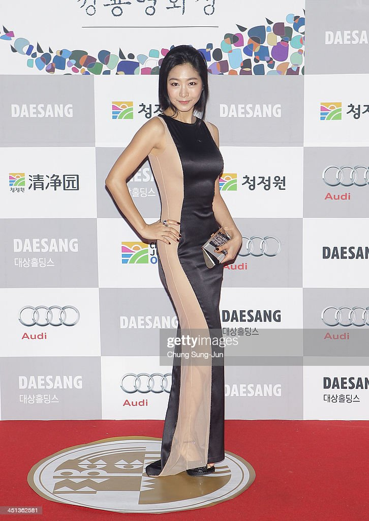 Actress Lee Eun-Woo arrives for the 34st Blue Dragon Film Awards at Kyung Hee University on November 22, 2013 in Seoul, South Korea.