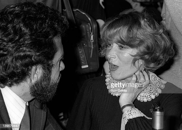 Actress Lee Grant and guest attend Actor's Studio Struttin' Masked Ball on October 25 1978 at Roseland Ballroom in New York City